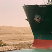 Globalization, Suez Canal Remains Blocked By Grounded Container Ship